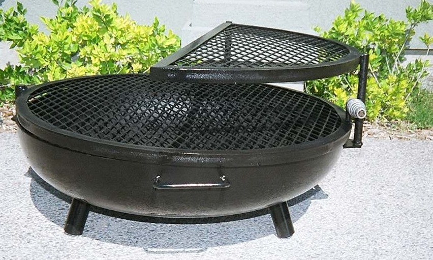 double grill fire pits low closed - Fire Pit Ring