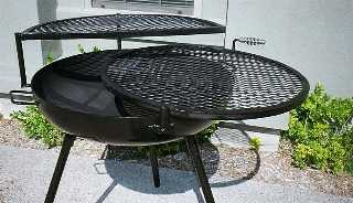 double grill fire pits,  tall open
